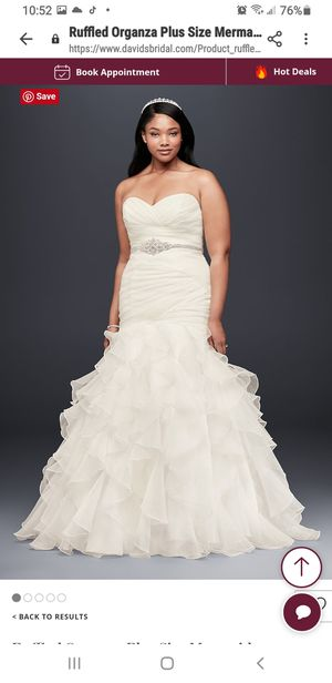 unused, unworn, unworn altered wedding dress for Sale in Center Line, MI
