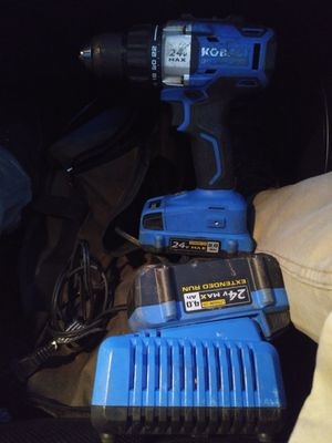 Kobalt high torque 24v brushless drill 2 batteries and 1 charger 50 obo for Sale in Rural Hall, NC