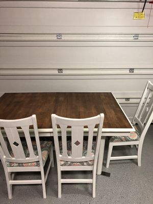 Solid wood dining table and 4 chairs for Sale in Cypress, TX