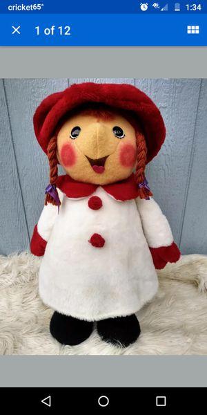 "Vintage Animal Fair Plush Caroler Girl Christmas Stuffed 27"" tall! for Sale in Green Cove Springs, FL"