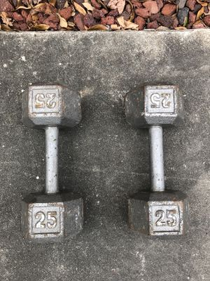 Dumbbells 25 lbs for Sale in Houston, TX
