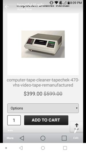 Vcr cleaner rewinder and tape cleaner lile new for Sale in Baton Rouge, LA