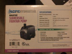 pacific minature submersible fountain pump for Sale in Alpharetta, GA
