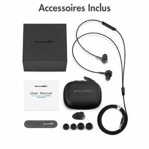 BlitzWolf BW-ES2 Dual Dynamic Driver Black Headphones for Sale in Brooklyn, NY