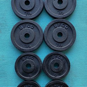 BFCO Weight Set 75 Lbs Standard 1 in Plates for Sale in Phoenix, AZ