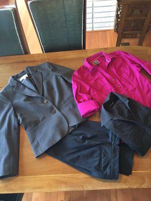 CALVIN KLEIN BLAZER, 2 TAPERED DRESS SHIRTS, and BRAND NEW BLACK SLACKS! for Sale in Steilacoom, WA
