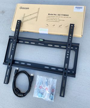 "(NEW) $10 Fixed 26""-55"" TV Wall Mount Bracket Low Profile, Max 110Lbs (w/ 5ft HDMI Cable) for Sale in South El Monte, CA"