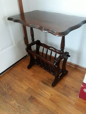 Antique/Vintage Magazine Rack/End Table for Sale in Tacoma, WA