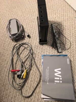 Nintendo Wii Black Game System Console for Sale in Olney, MD