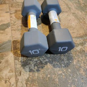 New 20lb Weight Set 10lb Dumbbell Pair for Sale in Tacoma, WA