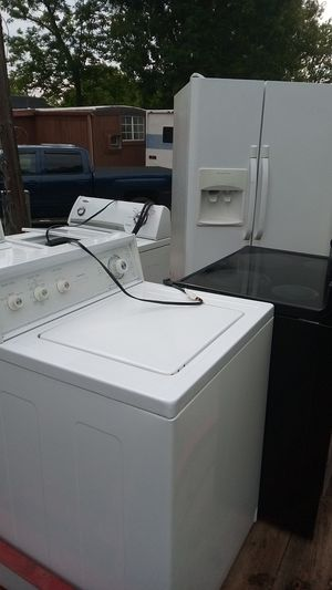 Washer and dryer refrigerators glass top stove for Sale in Murfreesboro, TN