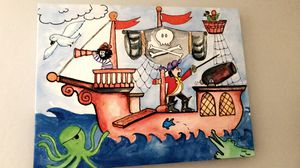 Toddler bed - pirate ship with accessories & decor for Sale in Goodyear, AZ