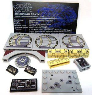 Pre-printed Lego blocks for Star Wars UCS Millennium Falcon 75192 for Sale in Gilbert, AZ
