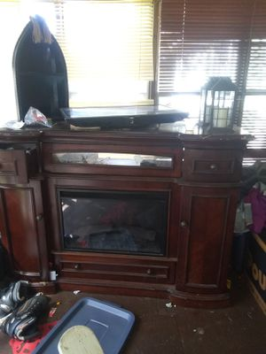 TV stand and fire place for Sale in Sparks, GA
