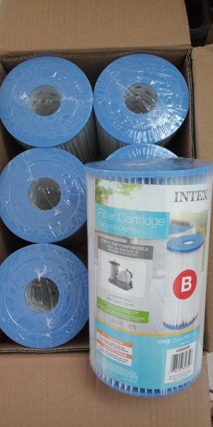 Intex pool pump filter box of 6 for Sale in Tampa, FL
