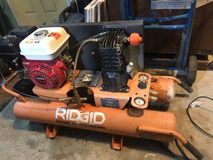 Gas Powered Air Compressor Rigid Twin GP90135A for Sale in Tacoma, WA
