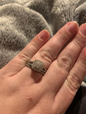 3/4 CT Wedding Ring SET - size 8 for Sale in Kent, WA