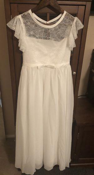 Ivory Flutter Sleeve A-line Flower Girls Dress for Sale in Henderson, NV