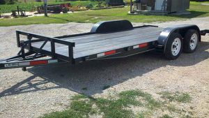 18ft Flatbed Trailer w/ Ramps for Sale in St. Louis, MO