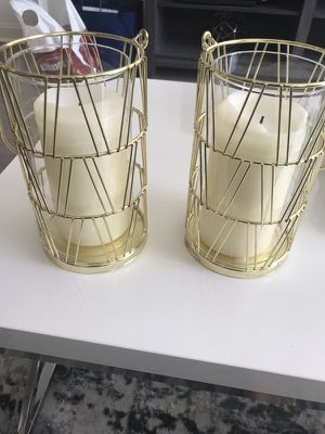 *2 gold candle holders* for Sale in Chicago, IL