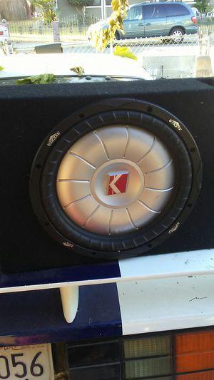 Kicker 12 cvt in single heavy duty ported box for Sale in Galt, CA