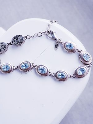 BLUE TOPAZ Authentic SILVER 925 BRACELET for Sale in Nashville, TN