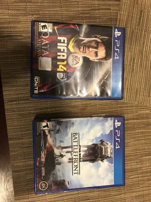 FIFA 14 and Star Wars battlefront for PS4 for Sale in Severn, MD