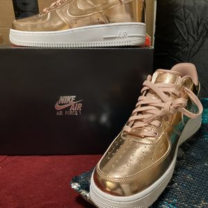 Nike Air Force 1's Rose Gold -Size 11.5 Women/10 Men for Sale in Milwaukee, WI