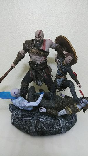God of War Stone Mason Kratos & Atreus Statue collectible for Sale in Crowley, TX