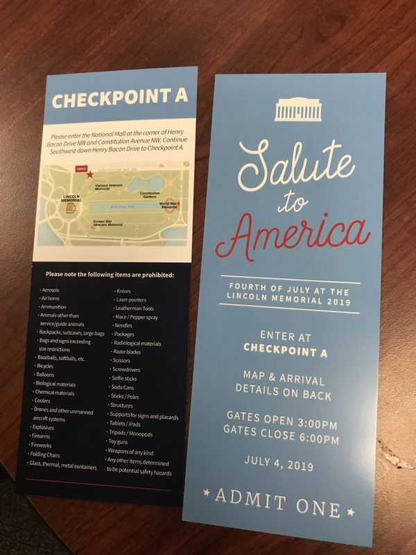 Salute to America Tickets
