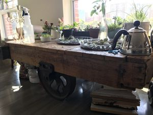Authentic Antique Industrial Railroad Coffee-table/Cart for Sale in Washington, DC