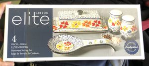 GIBSON LUXEMBOURG STONEWARE SERVING SET for Sale in Norco, CA