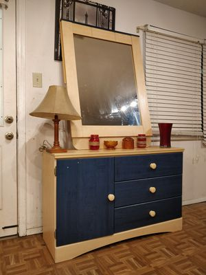 "Nice ASHLEY FURNITURE dresser with big mirror and drawers in good condition all drawers working well, driveway pickup. L48""*W155""*H30"" for Sale in West Springfield, VA"