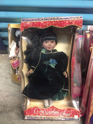 Antique Black Victorian Star Porcelain Doll for Sale in Philadelphia, PA