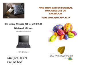 Lenovo Easter egg 49.00 for Sale in Baltimore, MD