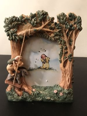 Disney picture frame Winnie the Pooh piglet and Eeyore swinging picture photo frame 3D Collectible for Sale in Bethesda, MD