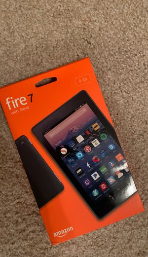 8GB AMAZON FIRE 7 TABLET -CHARGER & CASE INCLUDED for Sale in Raleigh, NC