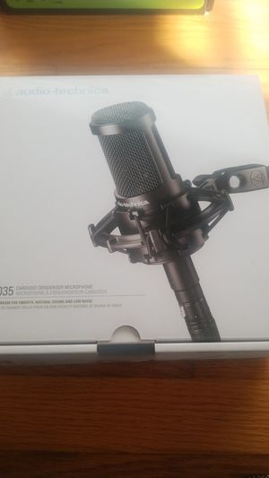 Visit the Audio-Technica Store 4.7 out of 5 stars1,084Reviews Audio-Technica AT2035 Cardioid Condenser Microphone, for Sale in Takoma Park, MD