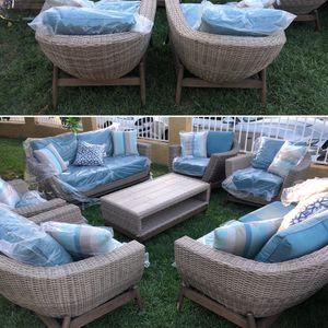 Patio Furniture Set Sunbrella Fabric Display for Sale in Riverside, CA