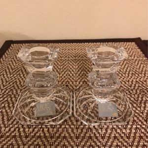 Mikasa Set Of 2 3 Inches Glass Clear Star Candle Holders for Sale in Clermont, FL