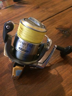 Shimano symetre Spinning Fishing Reel with New 10lb Power Pro Line for Sale in Lakeland, FL