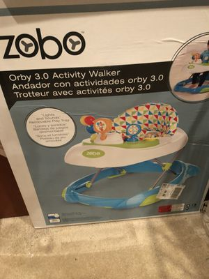 Activity walker, playard, nursing cover, car seat cover, flathead support pillow, boy 3-piece suite for Sale in Newcastle, WA