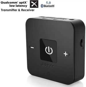 Giveet aptX Low Latency Bluetooth Audio Transmitter Receiver for TV, Dual Link, Optical, 3.5mm & RCA AUX for Home Car Stereo PC Headphone Speaker for Sale in Fontana, CA