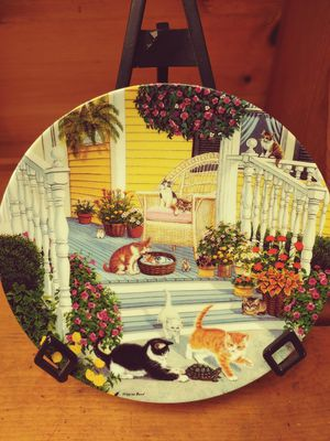 Higgins Bond pussycat potpourri 8 inch plate for Sale in Westgate, NY