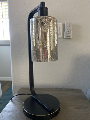 Table lamp with glass shade and Edison bulb. No damage, look beautiful. for Sale in Chandler, AZ