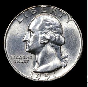 1951-p Washington Quarter 25c Grades Choice+ Unc for Sale in Parkland, FL