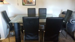 Table with six chairs,and the couch and two tables with light $1999 for Sale in Dallas, TX