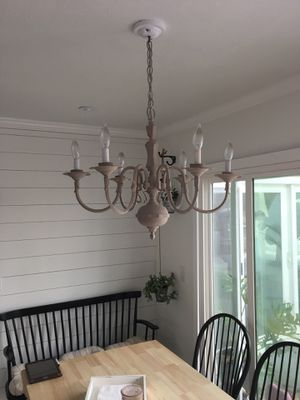 6 lamp chandelier pendant light lamp French antique for Sale in Mission Viejo, CA