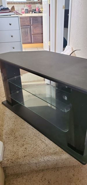 TV stand glass shelves for Sale in Salida, CA