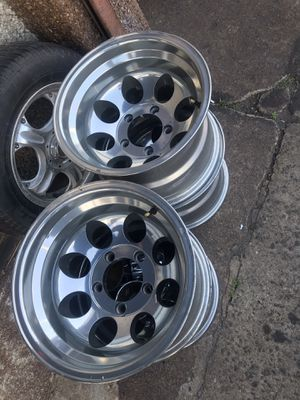 Chrome sandblasted rims /wheels 15' for Sale in Clifton, NJ